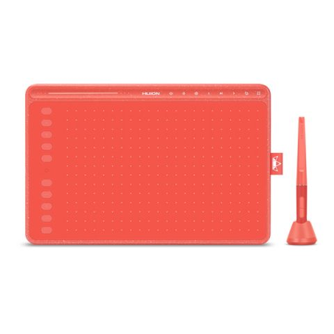Huion HS611 Coral Red Graphic Tablet for Designer