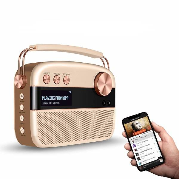 Saregama Carvaan Rose Gold Portable Music Player