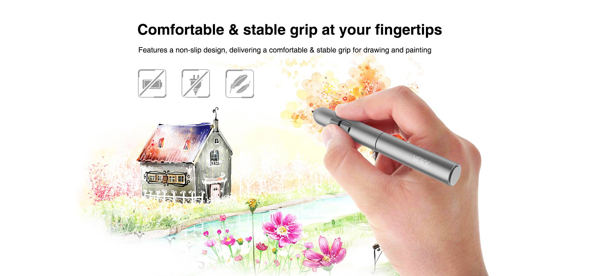 Comfortable & Stable grip at your fingertips