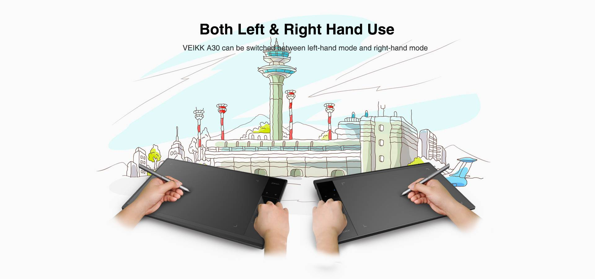 Both Left & Right Hand Use
