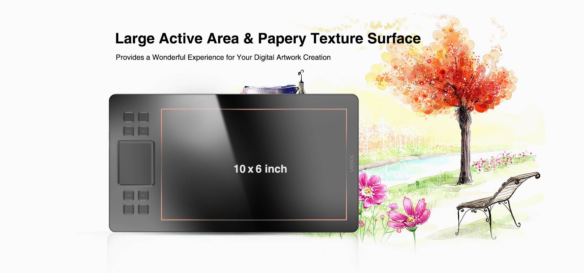 10x6 Inch Active Area