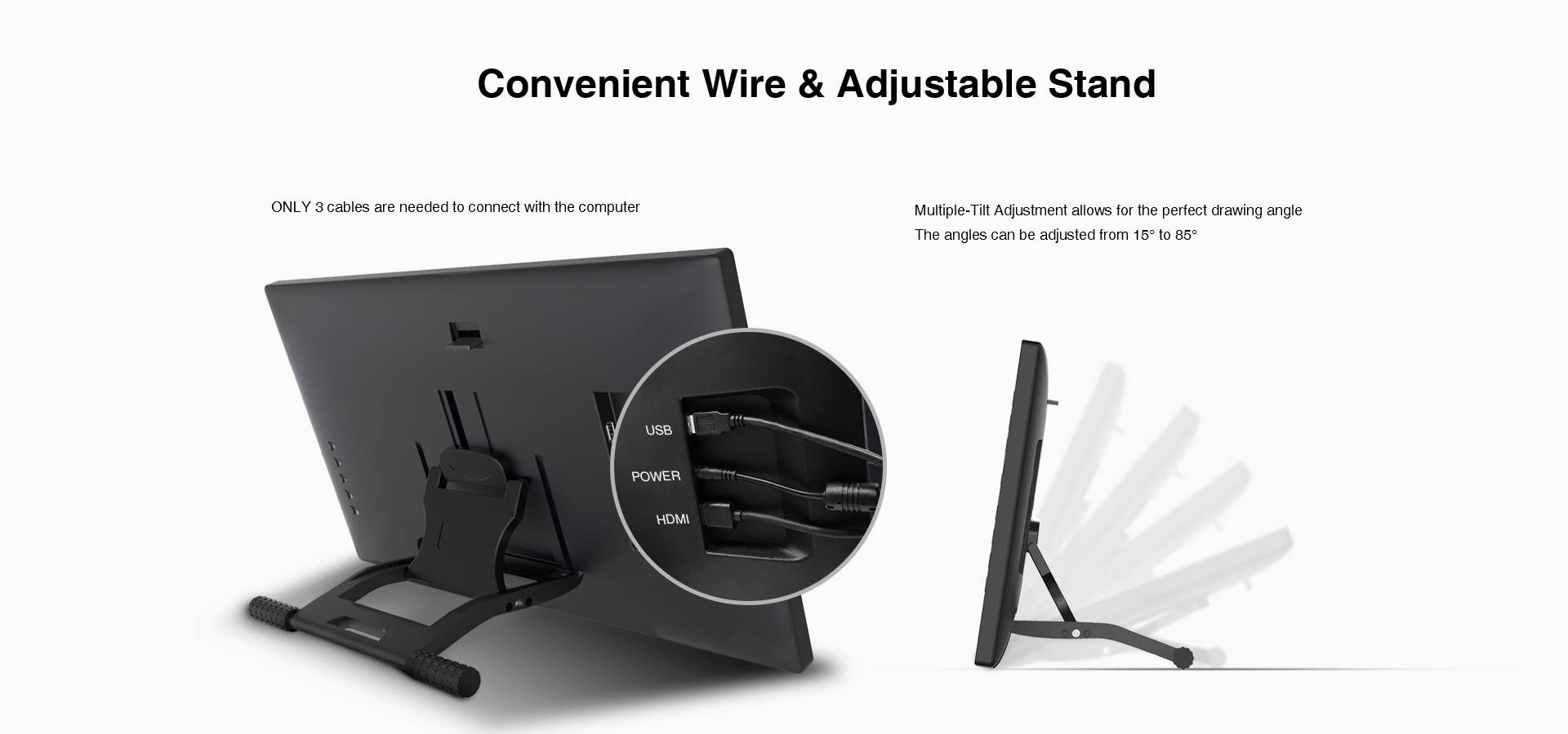 Convenient wire & adjustable stand