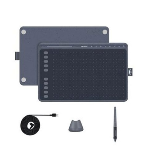Huion HS611 (Space Grey) Drawing Tablet for Online Class